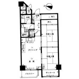 2LDK {building type} in Kita6-jonishi(26-28-chome) - Sapporo-shi Chuo-ku Floorplan