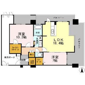 2LDK Mansion in Kozu - Osaka-shi Chuo-ku Floorplan