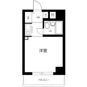 1K Mansion in Hiranuma - Yokohama-shi Nishi-ku Floorplan