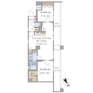 2LDK Mansion in Kohinata - Bunkyo-ku Floorplan