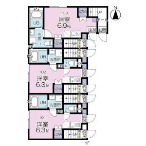1R Apartment in Kameido - Koto-ku Floorplan