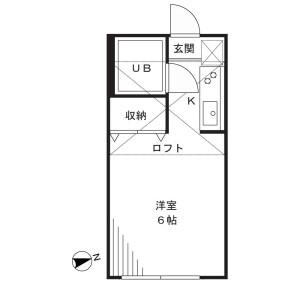 1R Mansion in Shimosakunobe - Kawasaki-shi Takatsu-ku Floorplan