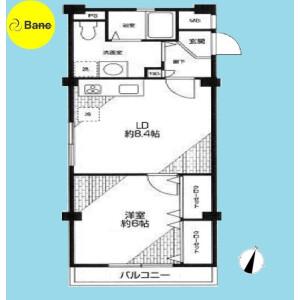 1LDK {building type} in Toyotamakita - Nerima-ku Floorplan