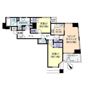 2LDK Apartment in Jingumae - Shibuya-ku Floorplan