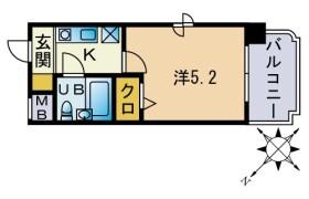 福岡市博多区 竹下 1K {building type}