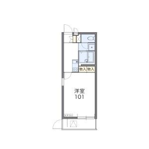 大阪市天王寺区大道-1K公寓大厦 楼层布局