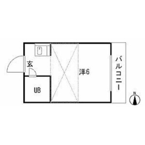 1R Apartment in Wakamiya - Nakano-ku Floorplan