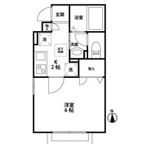 1K Apartment in Benten - Chiba-shi Chuo-ku Floorplan