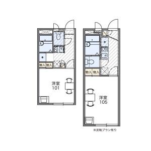1K Apartment in Rokugatsu - Adachi-ku Floorplan