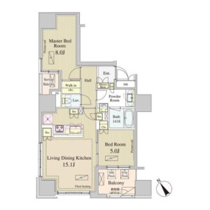 港區南青山-2LDK公寓大廈 房間格局