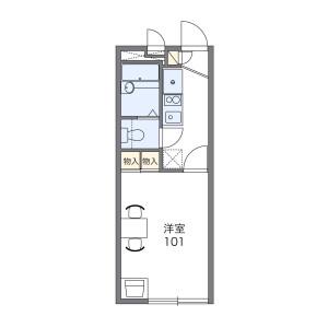 1K Apartment in Sumiyoshicho - Nishitokyo-shi Floorplan