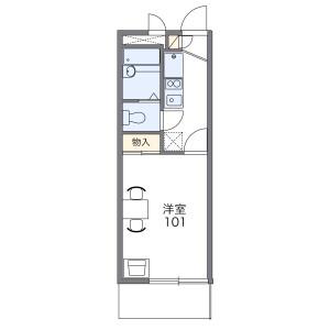 清須市西枇杷島町城並-1K公寓大廈 房間格局