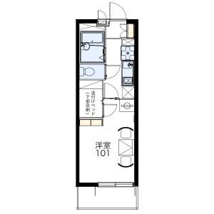 1K Mansion in Ohara - Saitama-shi Omiya-ku Floorplan