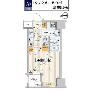江东区千石-1K公寓大厦 楼层布局