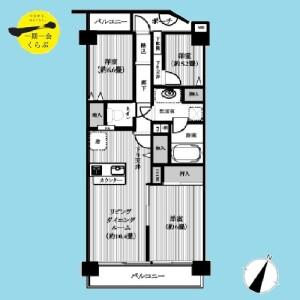 3LDK {building type} in Higashikasai - Edogawa-ku Floorplan