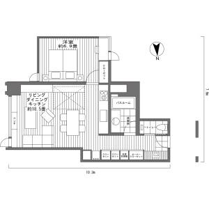 1LDK {building type} in Yamada - Abuta-gun Kutchan-cho Floorplan