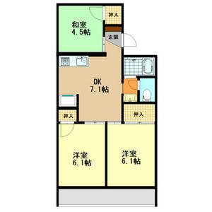 3DK Mansion in Andocho - Kashiwara-shi Floorplan