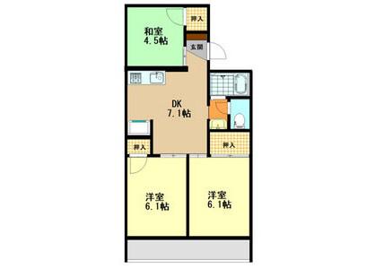 3DK Apartment to Rent in Kashiwara-shi Floorplan