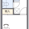 1K 아파트 to Rent in Kashiwa-shi Floorplan