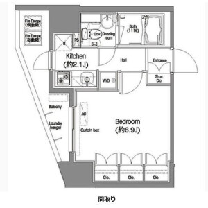 1K Mansion in Nishikamata - Ota-ku Floorplan