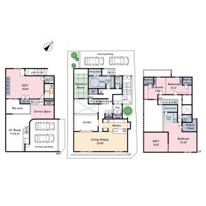 3SLDK {building type} in Kakinokizaka - Meguro-ku Floorplan