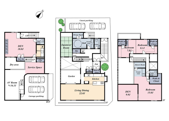 3SLDK House to Buy in Meguro-ku Floorplan