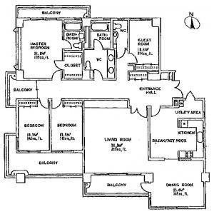 4LDK Mansion in Tomigaya - Shibuya-ku Floorplan