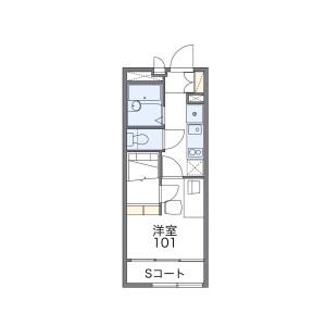 1K Apartment in Wakamiya - Nakano-ku Floorplan