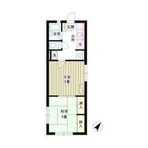 2K Mansion in Koenjiminami - Suginami-ku Floorplan