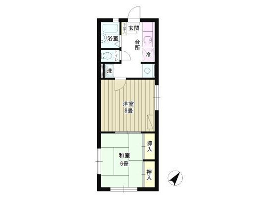 2K Apartment to Rent in Suginami-ku Floorplan