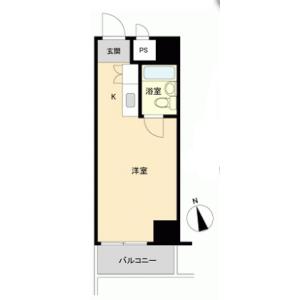 1R {building type} in Nishiasakusa - Taito-ku Floorplan
