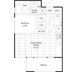 1LDK Mansion in Sumiyoshi - Koto-ku Floorplan