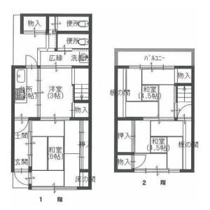 4K {building type} in Higashikawaracho - Kyoto-shi Higashiyama-ku Floorplan