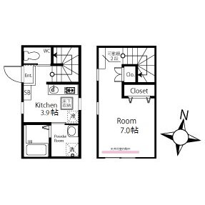 1R Apartment in Sakuragaoka - Setagaya-ku Floorplan