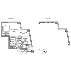1K Apartment in Akasaka - Minato-ku Floorplan