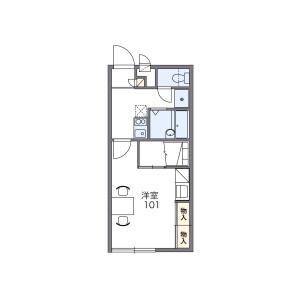 1K Apartment in Okucho - Ichinomiya-shi Floorplan