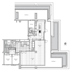 4SLDK Apartment in Minamiazabu - Minato-ku Floorplan