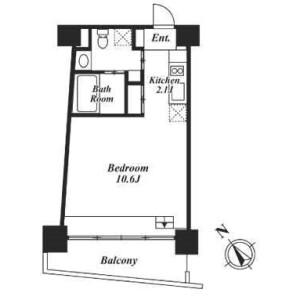目黒区目黒-1R公寓大厦 楼层布局