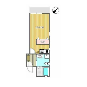 1R Apartment in Seta - Setagaya-ku Floorplan