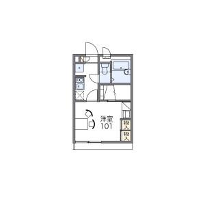 1K Apartment in Nagainishi - Osaka-shi Sumiyoshi-ku Floorplan