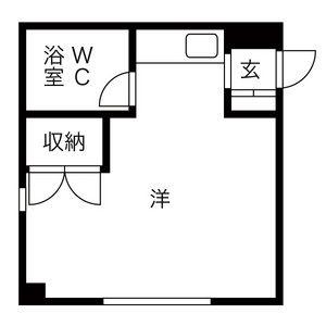 1R Mansion in Sumikawa 4-jo - Sapporo-shi Minami-ku Floorplan