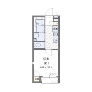 1K Apartment in Ichiba nishinakacho - Yokohama-shi Tsurumi-ku Floorplan