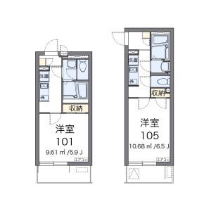 大田区池上-1K公寓 楼层布局