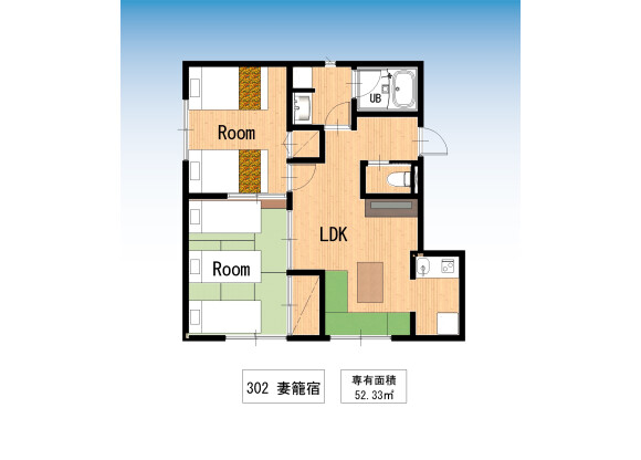 2LDK マンション 台東区 間取り