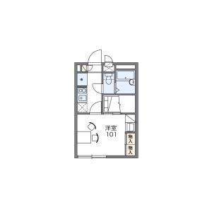 1K Apartment in Fukuda - Yamato-shi Floorplan
