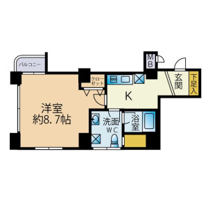 1K {building type} in Gohongi - Meguro-ku Floorplan