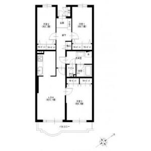 3LDK {building type} in Utsukushigaoka - Yokohama-shi Aoba-ku Floorplan