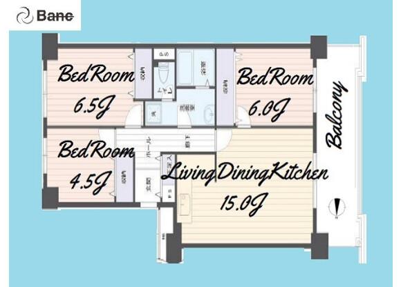3LDK Apartment to Buy in Itabashi-ku Floorplan