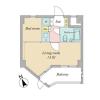 1LDK Apartment to Buy in Minato-ku Floorplan