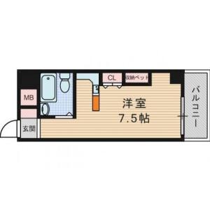 1R {building type} in Tsukamoto - Osaka-shi Yodogawa-ku Floorplan